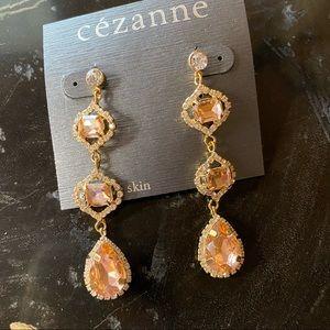 CEZANNE Gold Blush Sensitive Skin Earrings NWT
